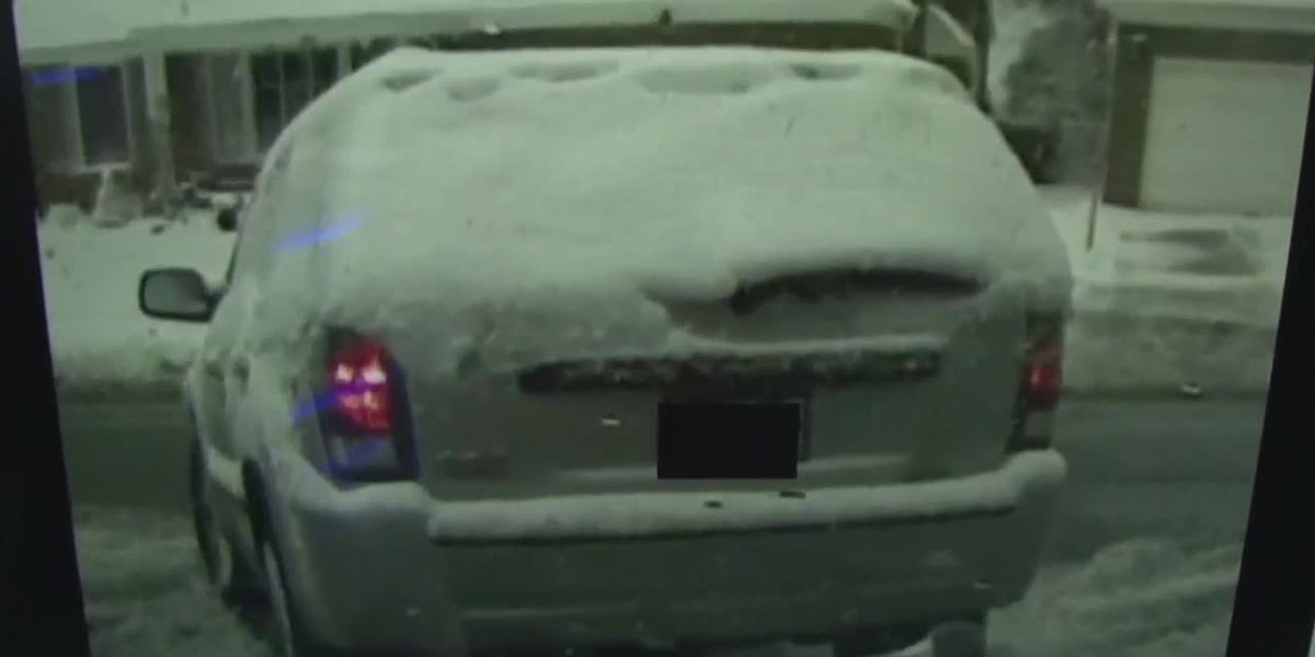 Northeast Ohio Police use bad driver as example of what not to do with snow on your car