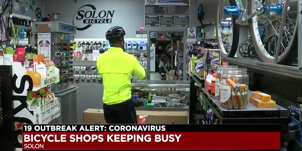 Owner of Solon Bicycle says he's had an increase in customers during stay-at-home order