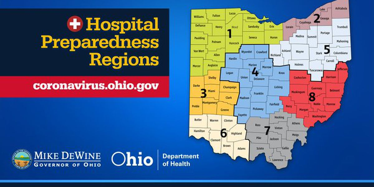 Ohio divided into 8 regions for purpose of increasing ...
