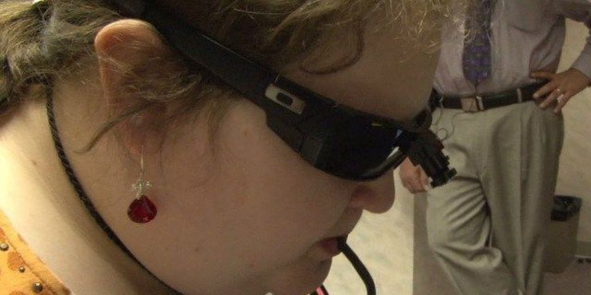 Gift of Sight: Community donates device to help blind woman see