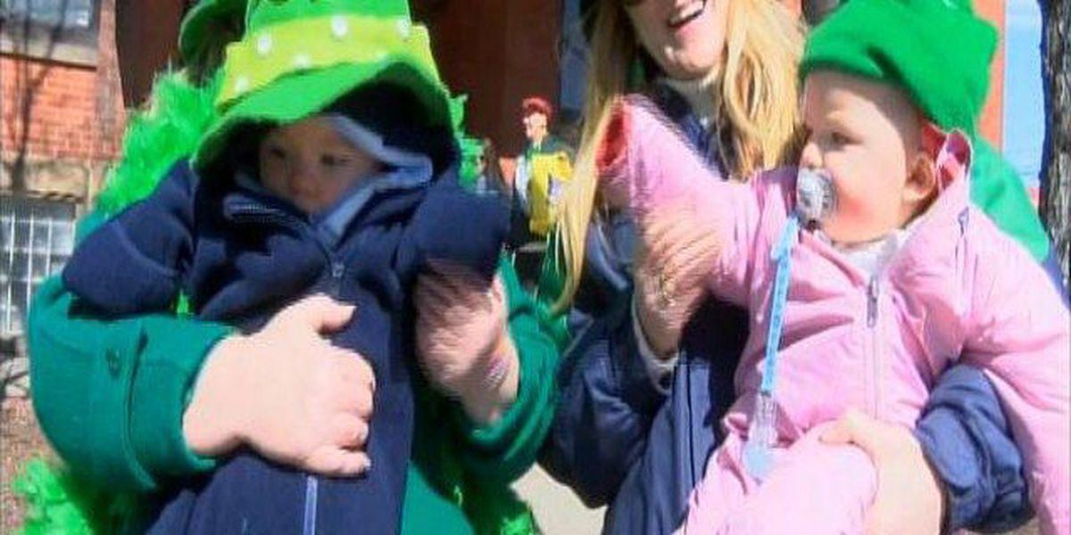 Lucky Irish twins celebrate first St. Patrick's Day