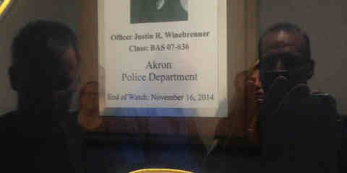 Akron police officer remembered one year after his death