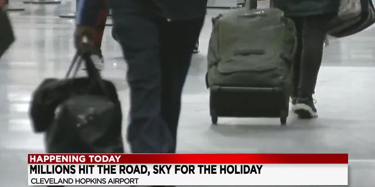Cleveland Hopkins International Airport expecting a large number of travelers this holiday week
