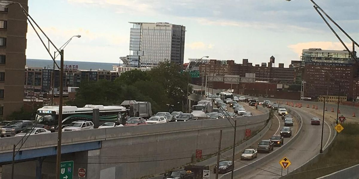 Why is Cleveland's Shoreway a traffic nightmare right now?