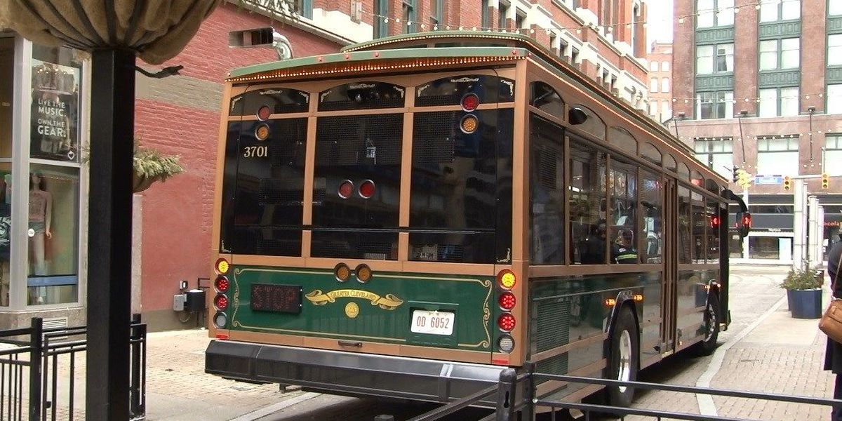 RNC trolley's debut in downtown Cleveland