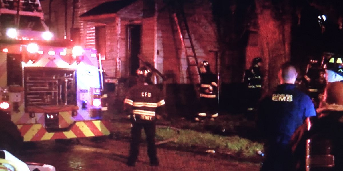 Cleveland firefighter injured battling blaze on city's East Side; crews worked to quickly stamp out flames