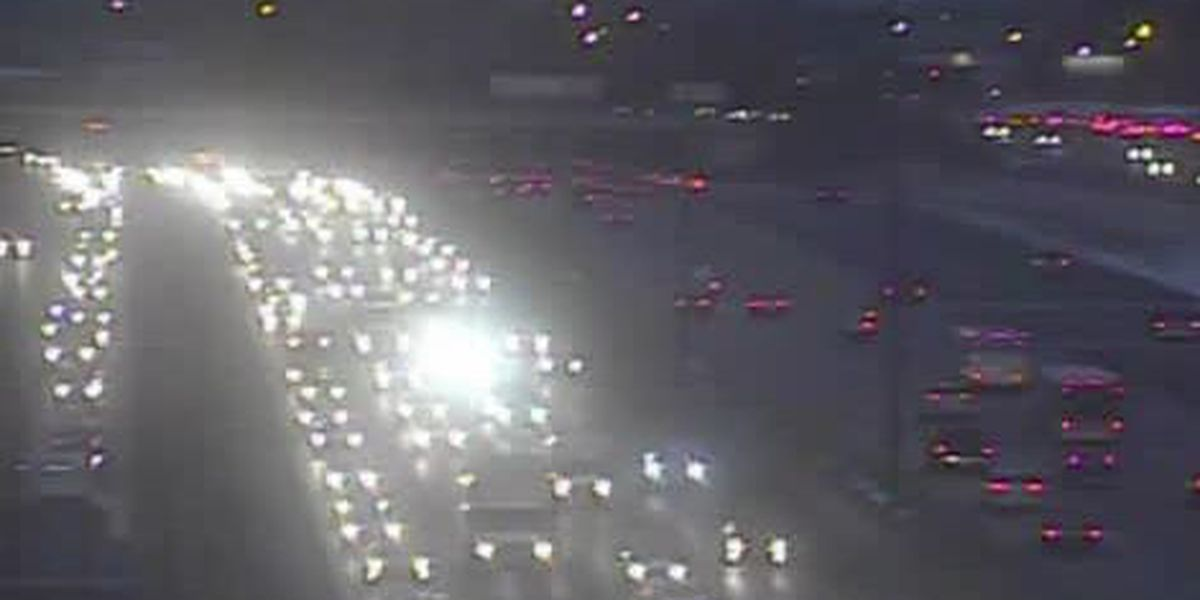 Accident on I-480 East slowing traffic on Valley View Bridge