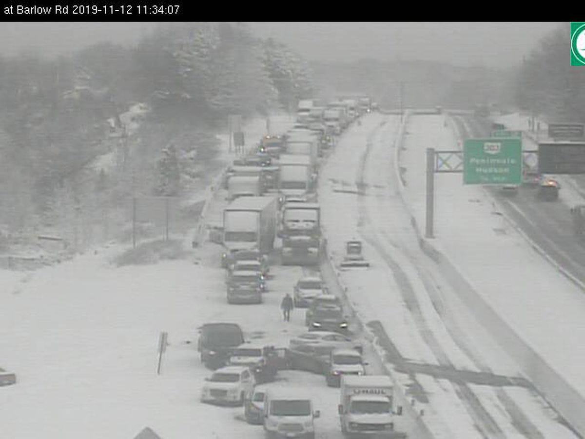 Police: Up to 95 vehicles tied up in Tuesday morning's chain-reaction crash on State Route 8