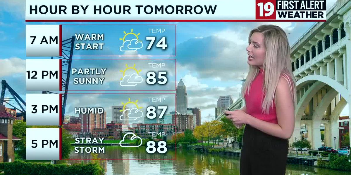 Northeast Ohio weather: Hot, humid, with isolated storms to start the week