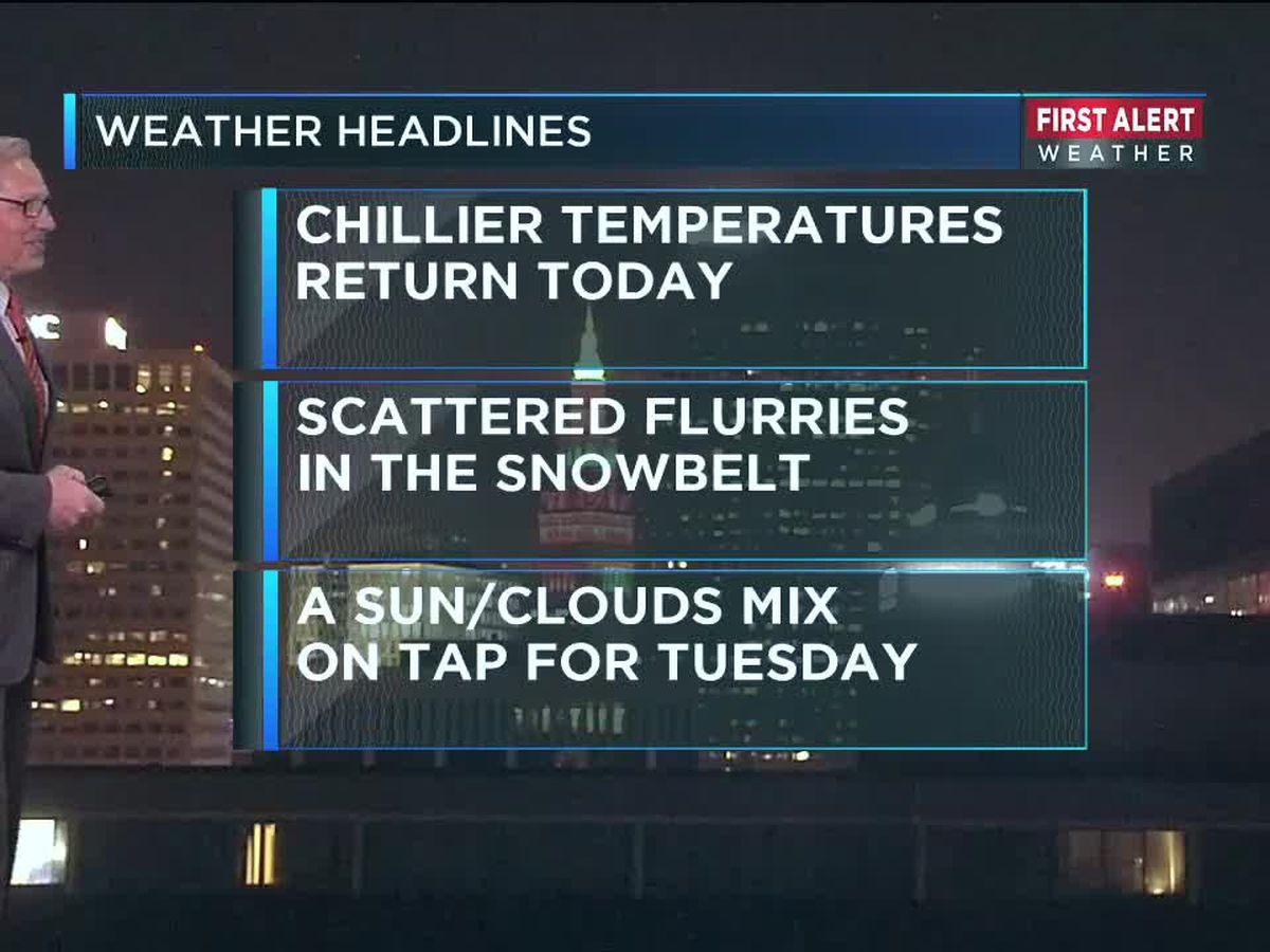 Northeast Ohio Weather: Cool temps and grey skies