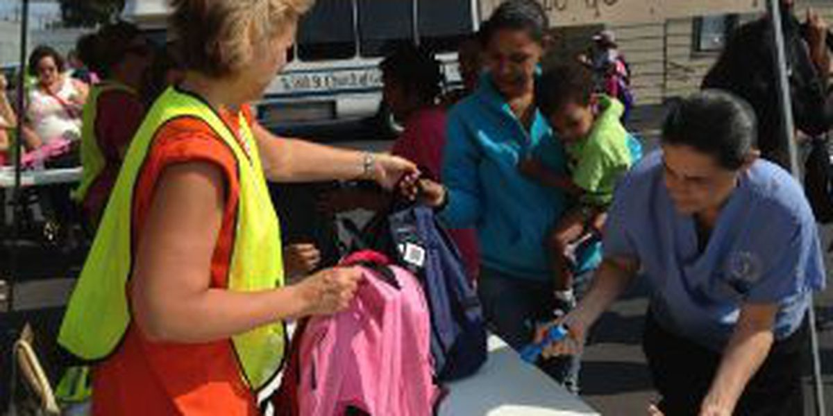 Church hosts annual event to help with school supplies