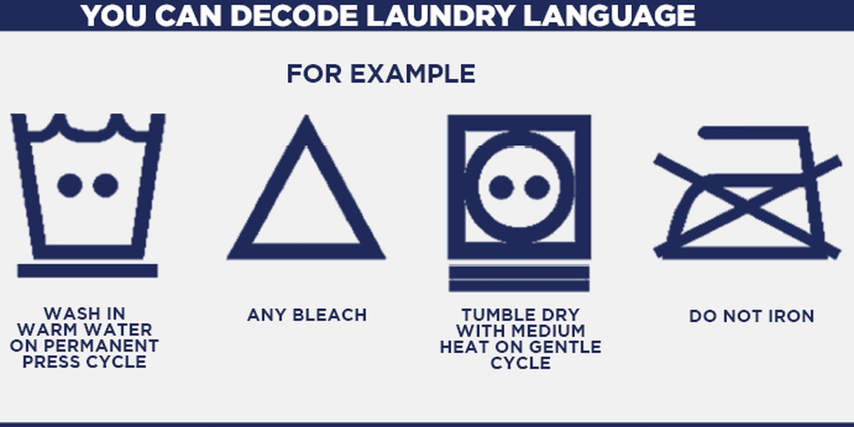 What do the laundry symbols mean on clothes tags?