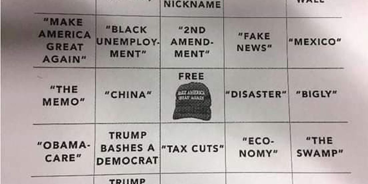 Ohio teacher gives controversial State of the Union bingo cards filled with Trumpisms to students as homework