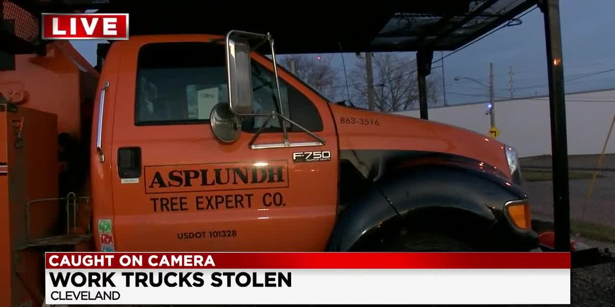 Tree trimming trucks stolen and stripped as wave of thefts drag on in Cleveland's industrial parks