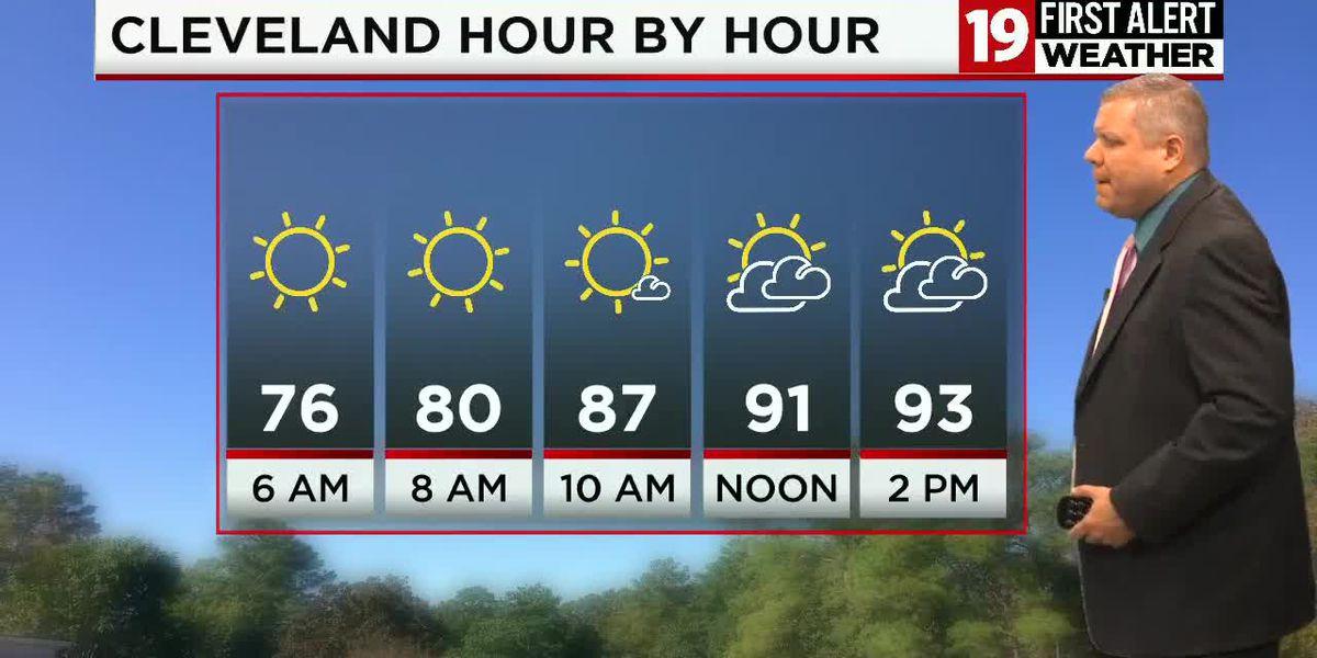 First Alert Forecast: 100 degree heat index; afternoon storms develop
