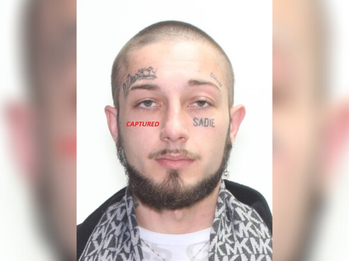 Stow police catch fugitive with tattoos on his face, then add a fake one of their own