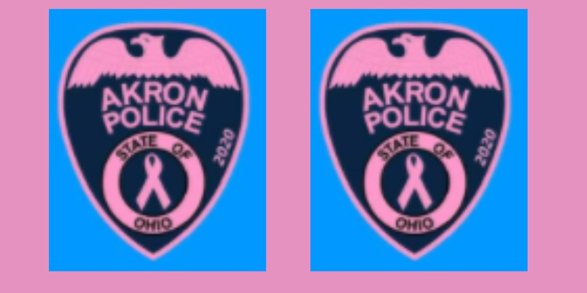 Akron police to wear pink patches for breast cancer awareness, fundraiser