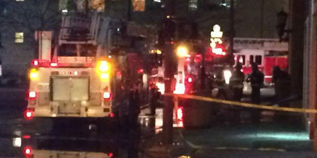 Cleveland fire crews respond to fire at downtown apartment building