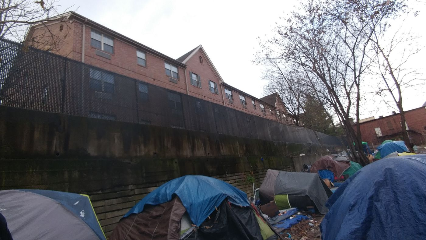 Akron's homeless tent city will get to stay another two weeks