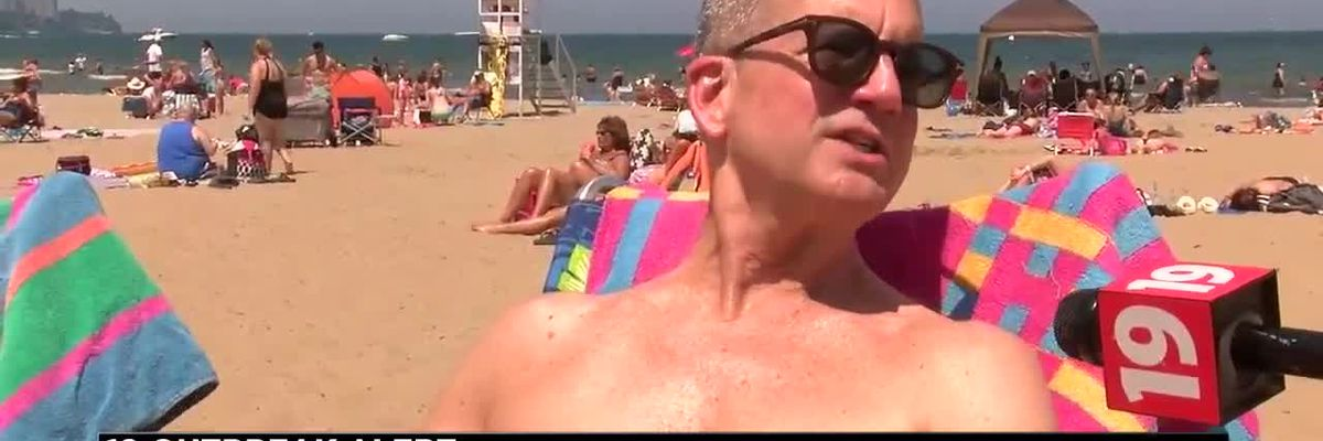 Masks are top of mind among Northeast Ohio residents visiting the beach