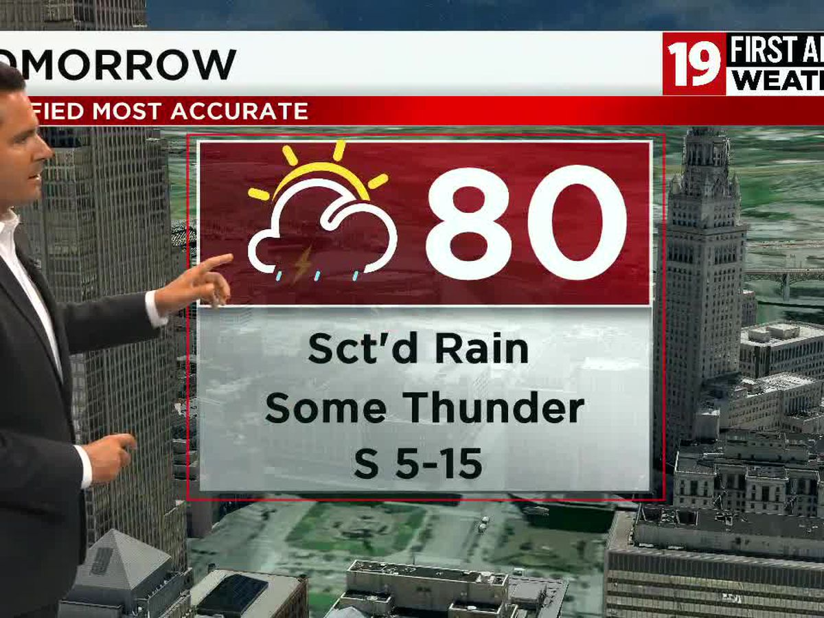 Northeast Ohio weather: Few showers and storms through Tuesday