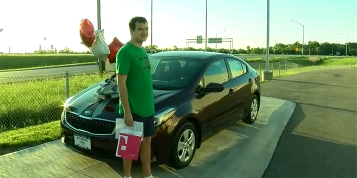 Future University of Akron student wins free car