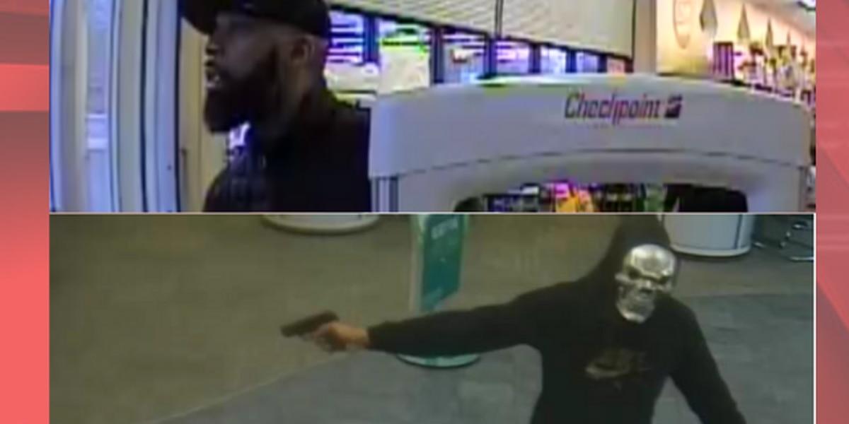 FBI: Gun-wielding man caught on surveillance buying skull mask before robbing Bedford bank (photos)