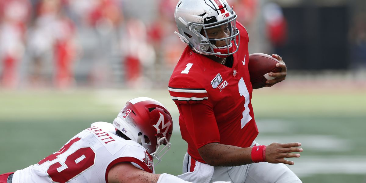 Fields shines as No. 6 Ohio State trounces Miami (Ohio) 76-5