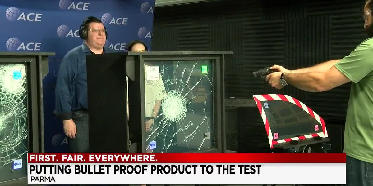 CEO literally stands behind bullet proof product with active shooter