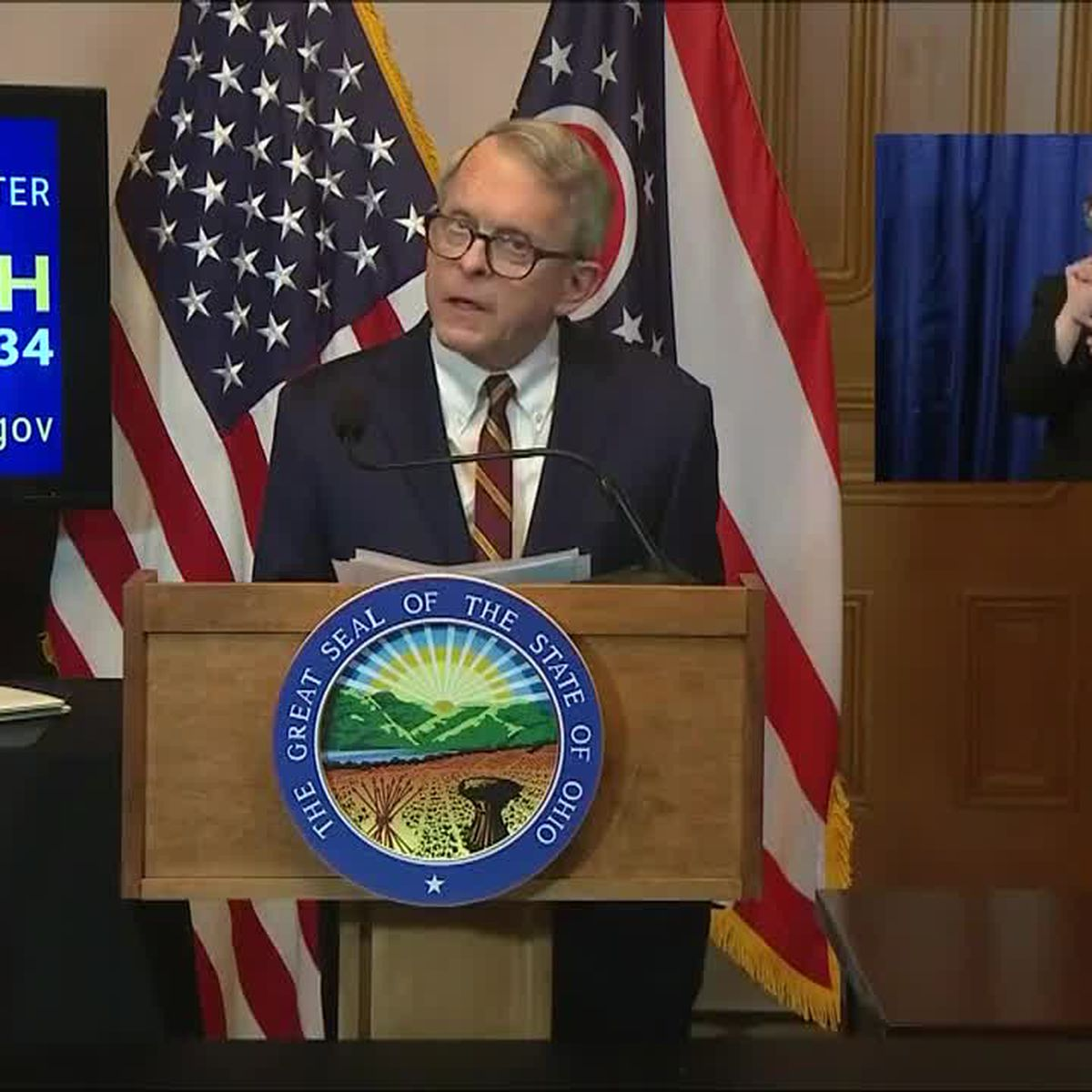 Gov. DeWine shares latest information about COVID-19 pandemic in Ohio