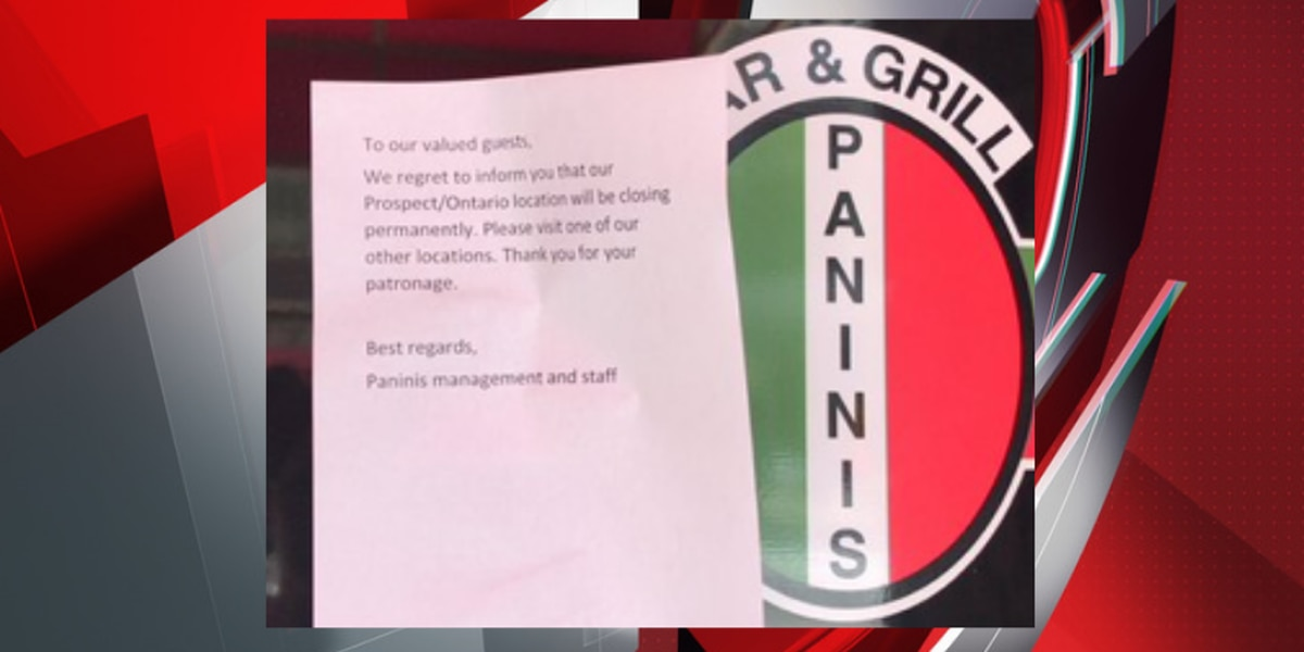 Panini's Bar & Grill on Prospect and Ontario in Cleveland closes