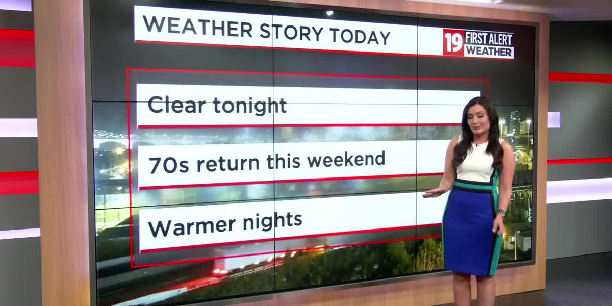 Northeast Ohio weather: Comfortable weekend with a chance of passing showers Sunday afternoon