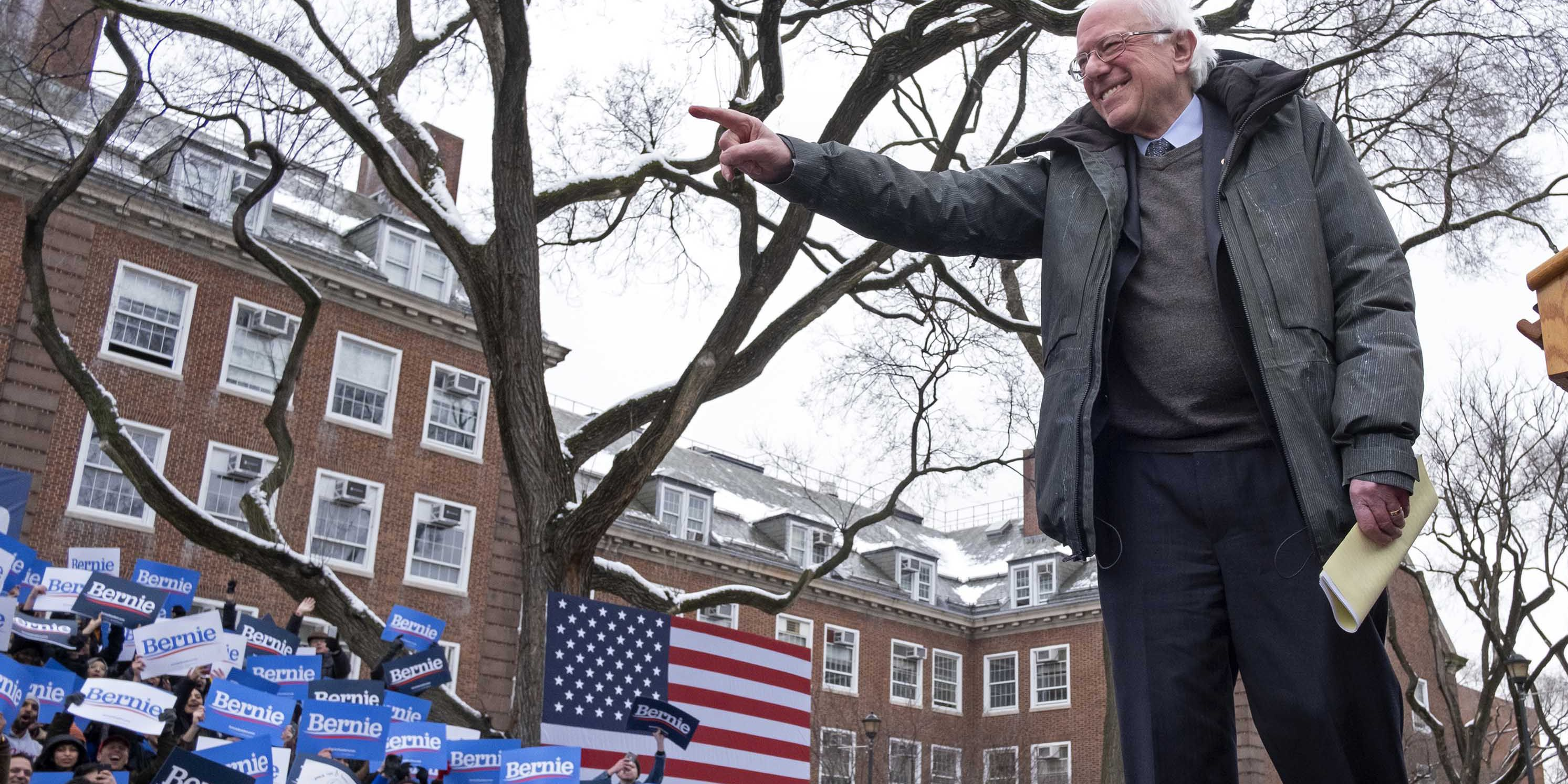 Sanders returns to NY roots, says he can defeat Trump