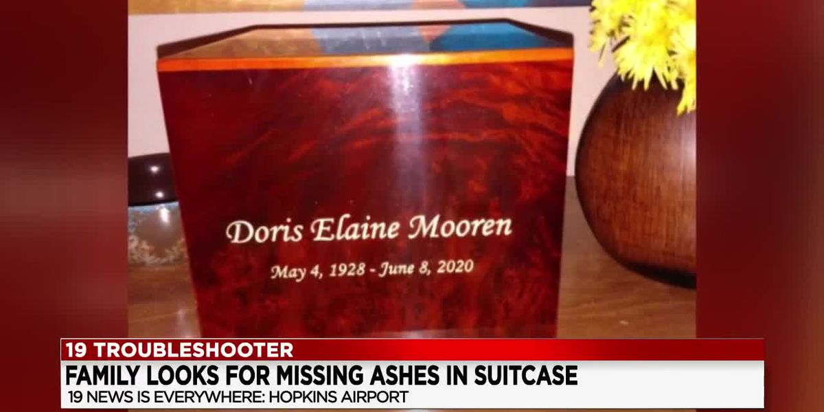 Suitcase carrying woman's ashes lost at Cleveland Hopkins International Airport; family pleas for return