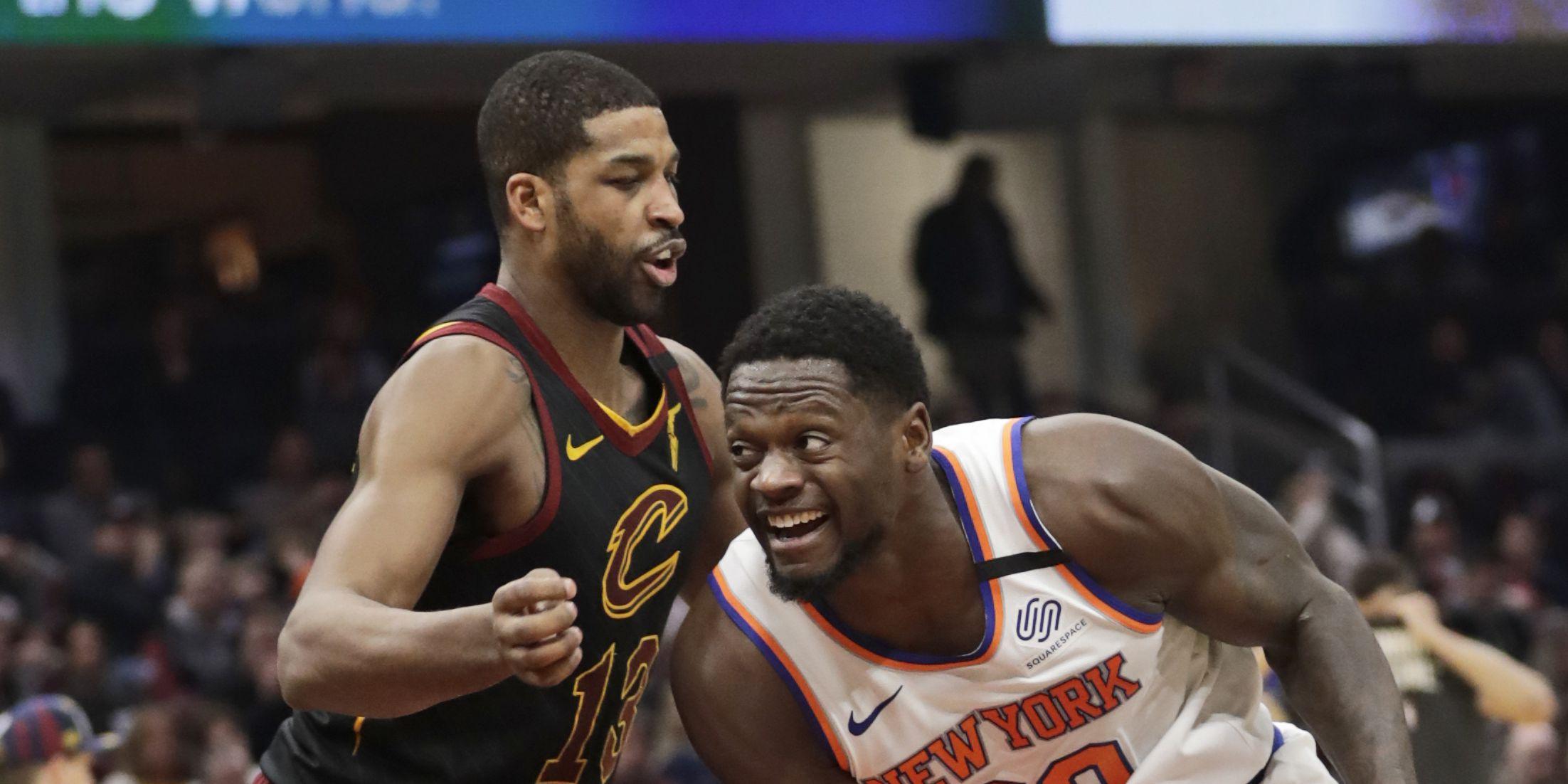 Morris, Randle lead Knicks past Cavs 106-86