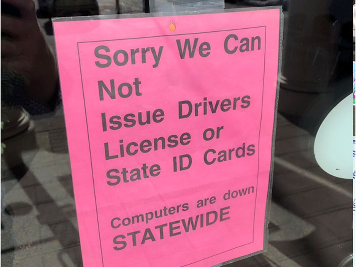 Bureau of Motor Vehicle computers are down statewide