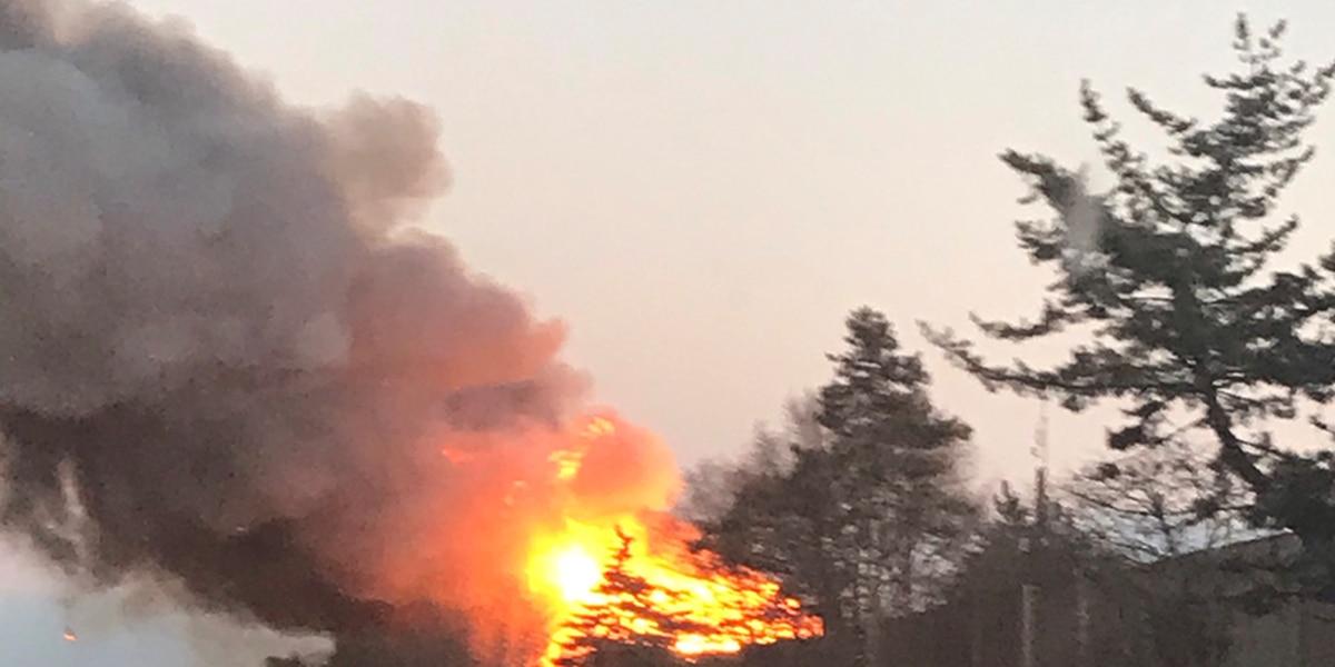 Massive fire destroys Rocky River condominiums under construction; displaces 12