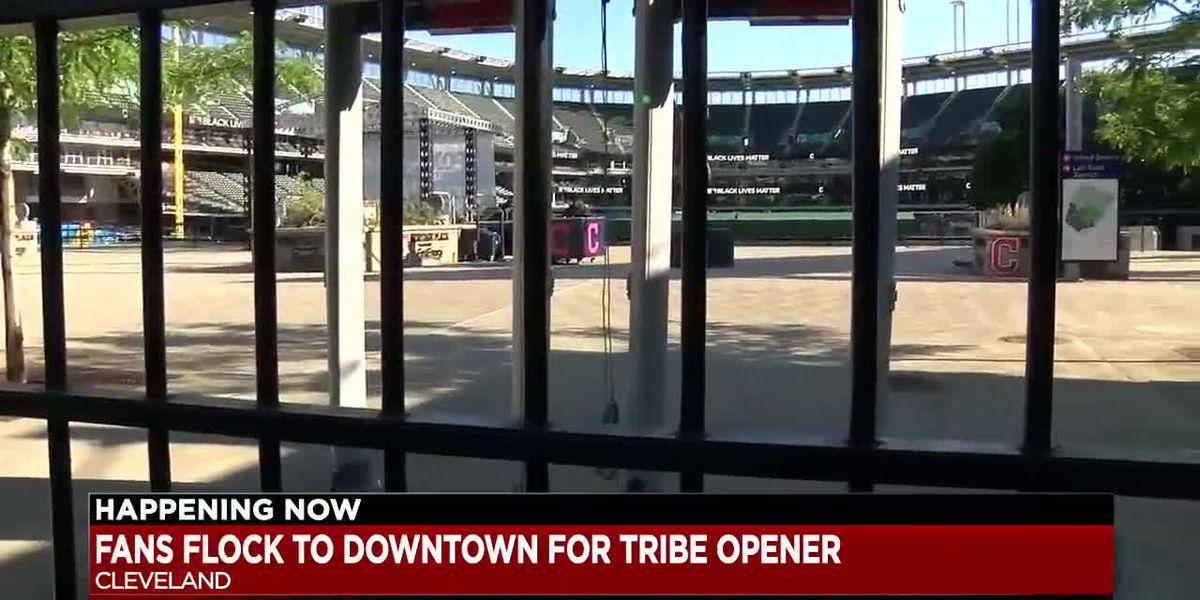 Cleveland celebrates the return of baseball