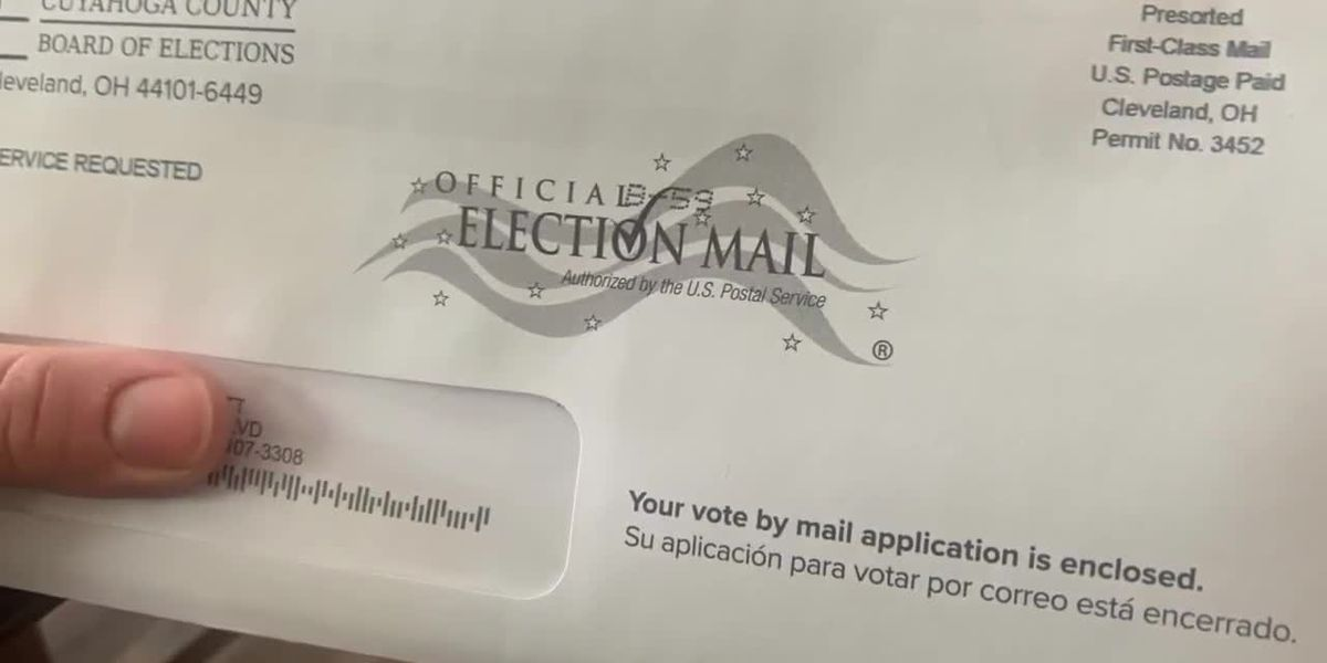 Ohio officials urge people to request absentee ballots no later than Tuesday