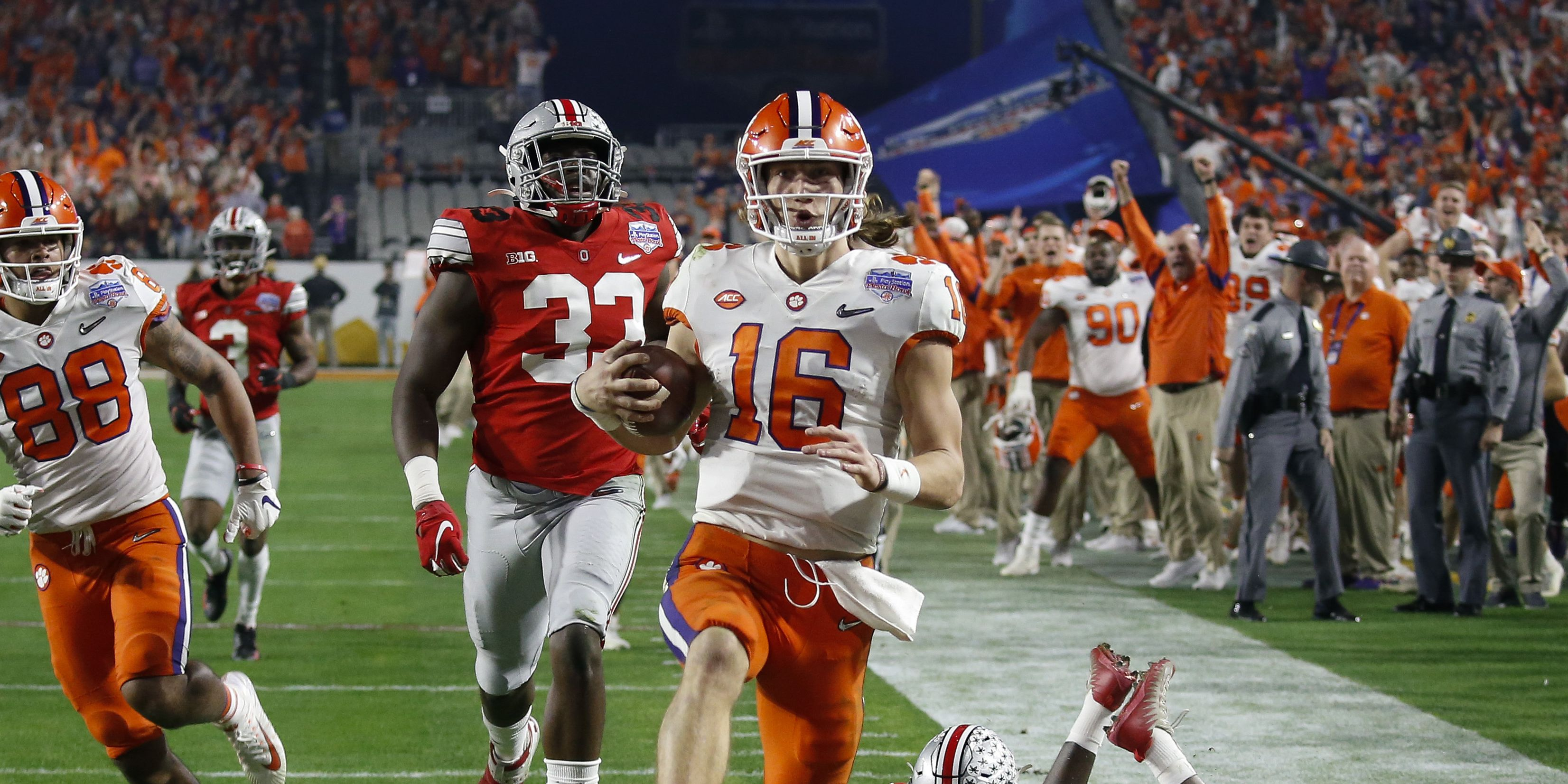 No. 3 Clemson beats No. 2 Ohio State 29-23 to advance to face No. 1 LSU in college football national championship game
