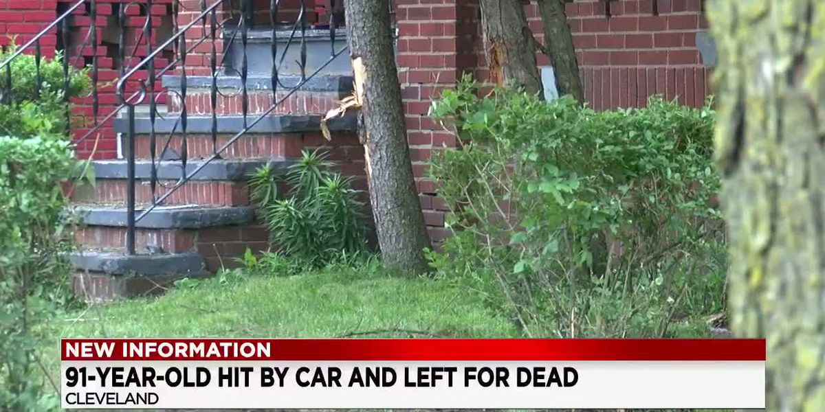 91 year-old Cleveland man left for dead in his front yard after hit-and-run