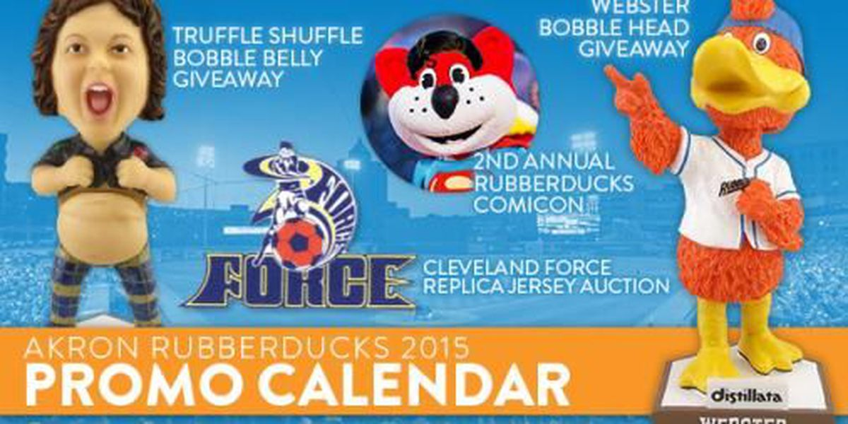Akron RubberDucks announce 2015 promotional schedule