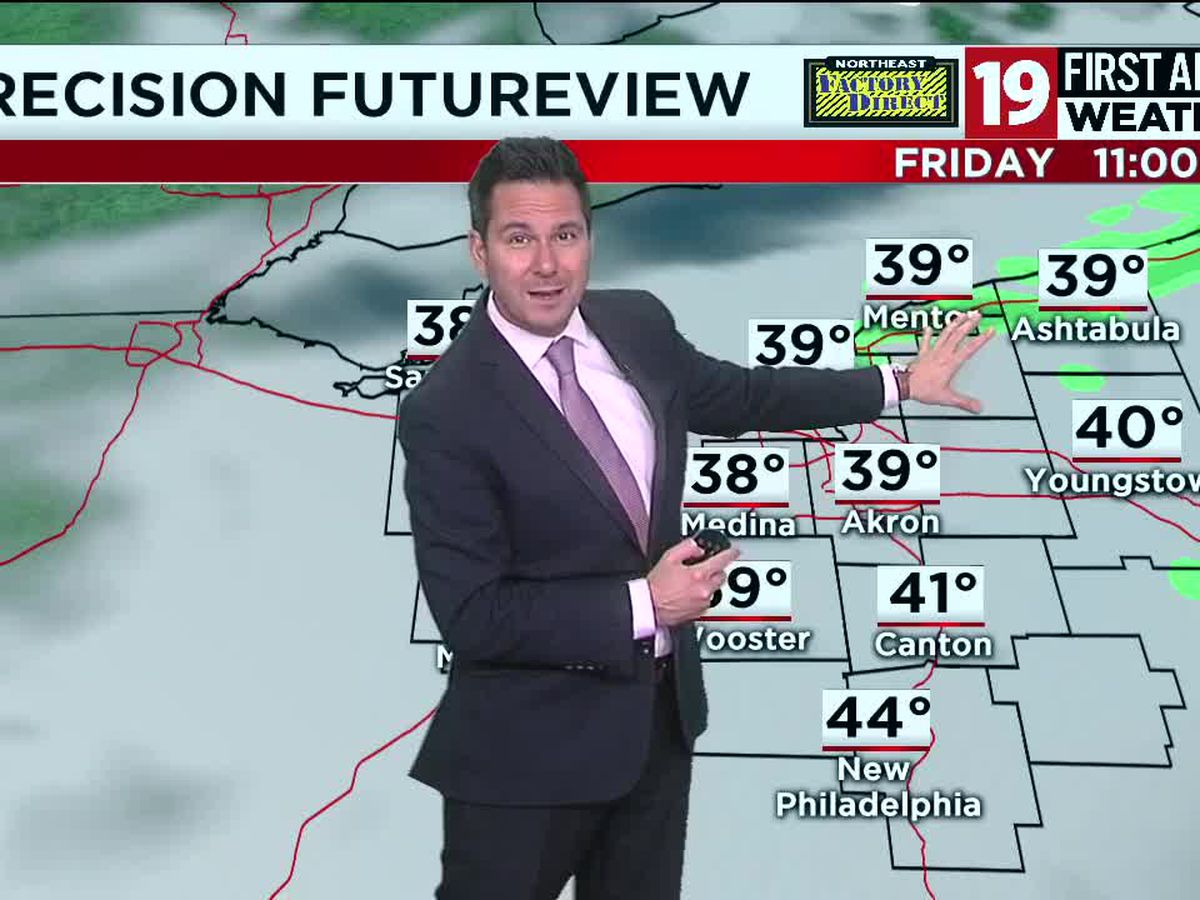 Northeast Ohio weather: Near 40 degrees on Thursday under a mostly cloudy sky