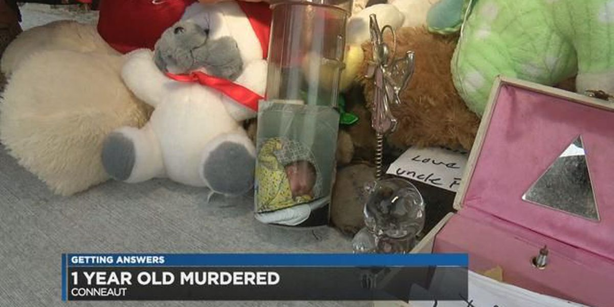 Vigil held for 12-month-old murdered in Conneaut, police still looking for suspect