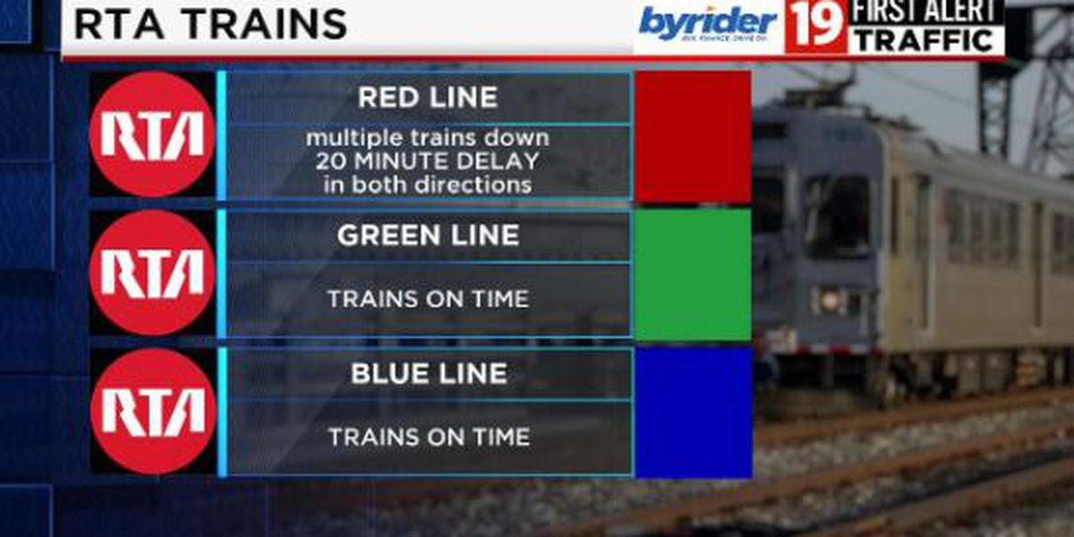 RTA red line trains back to normal after mechanical issues in Cleveland