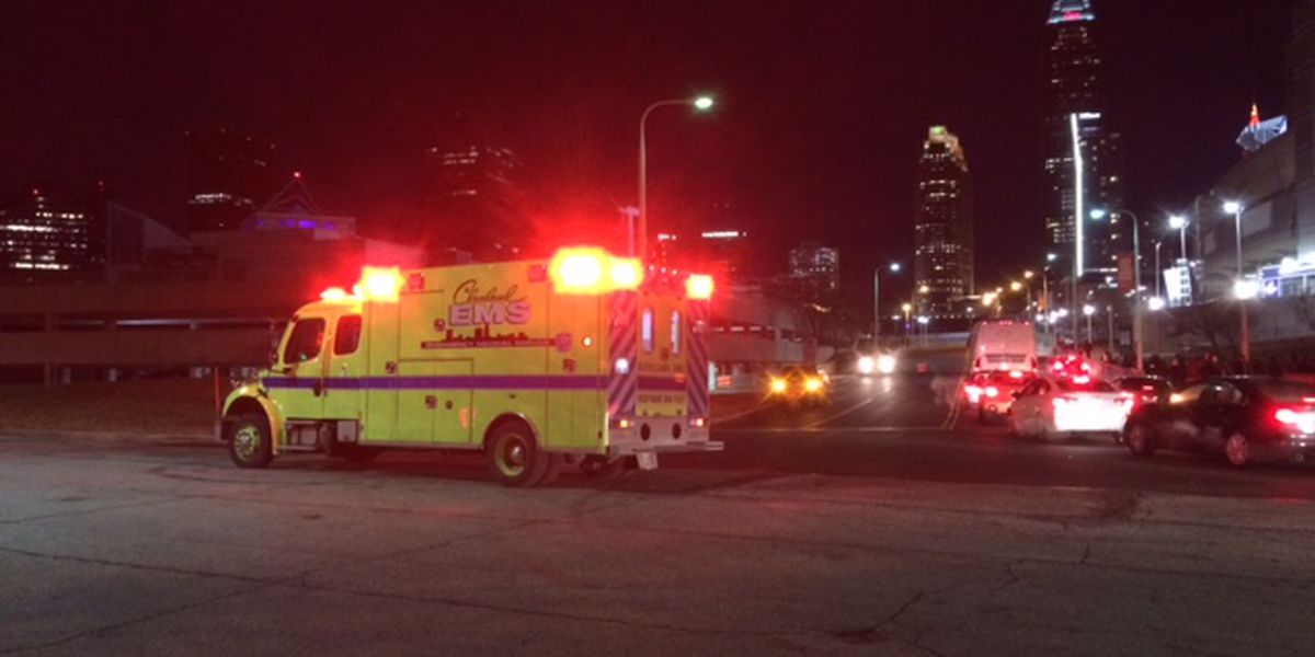 Road reopens after car strikes pedestrian in Cleveland