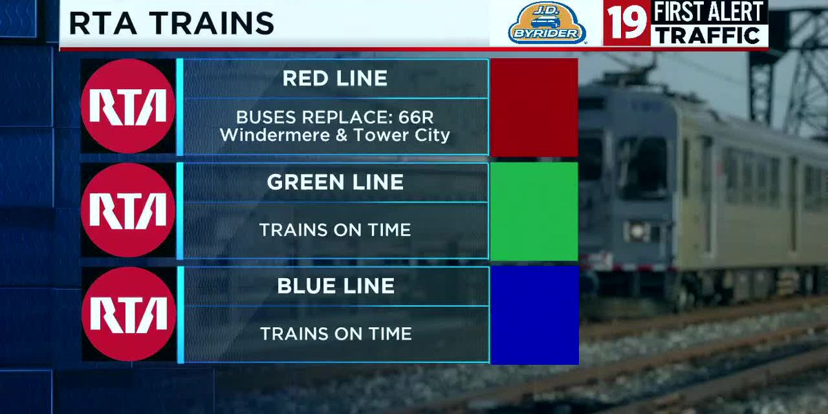 RTA buses to replace trains on Red Line between Cudell neighborhood and Cleveland Hopkins International Airport