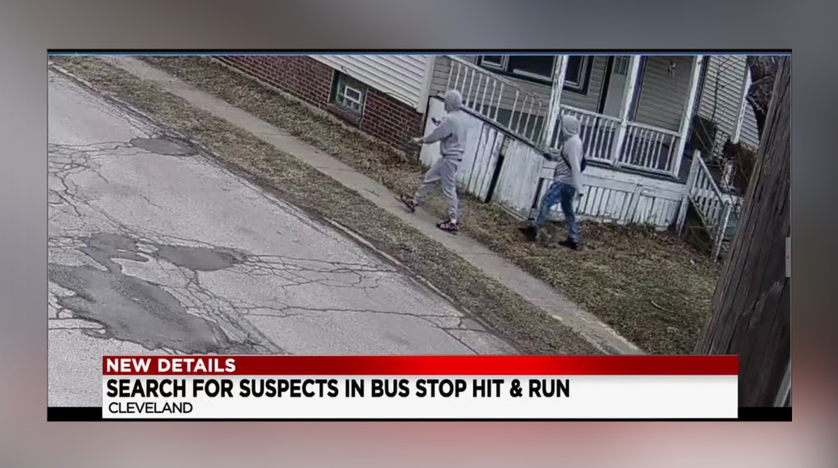 New video shows the 2 suspects that are accused of passing a stopped school bus and running over a 9-year-old girl