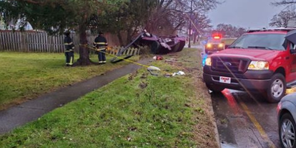 One victim transported to hospital after car flips over onto curb
