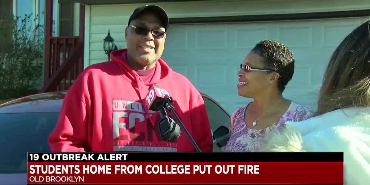 College students home because of the coronavirus save Old Brooklyn family during fire